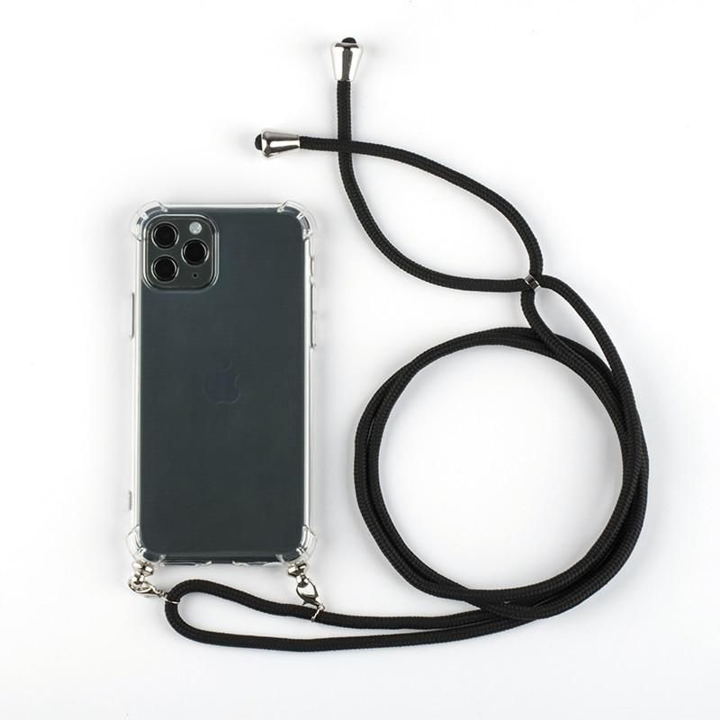 Clear view silicone necklace for iphone 11 series iphone