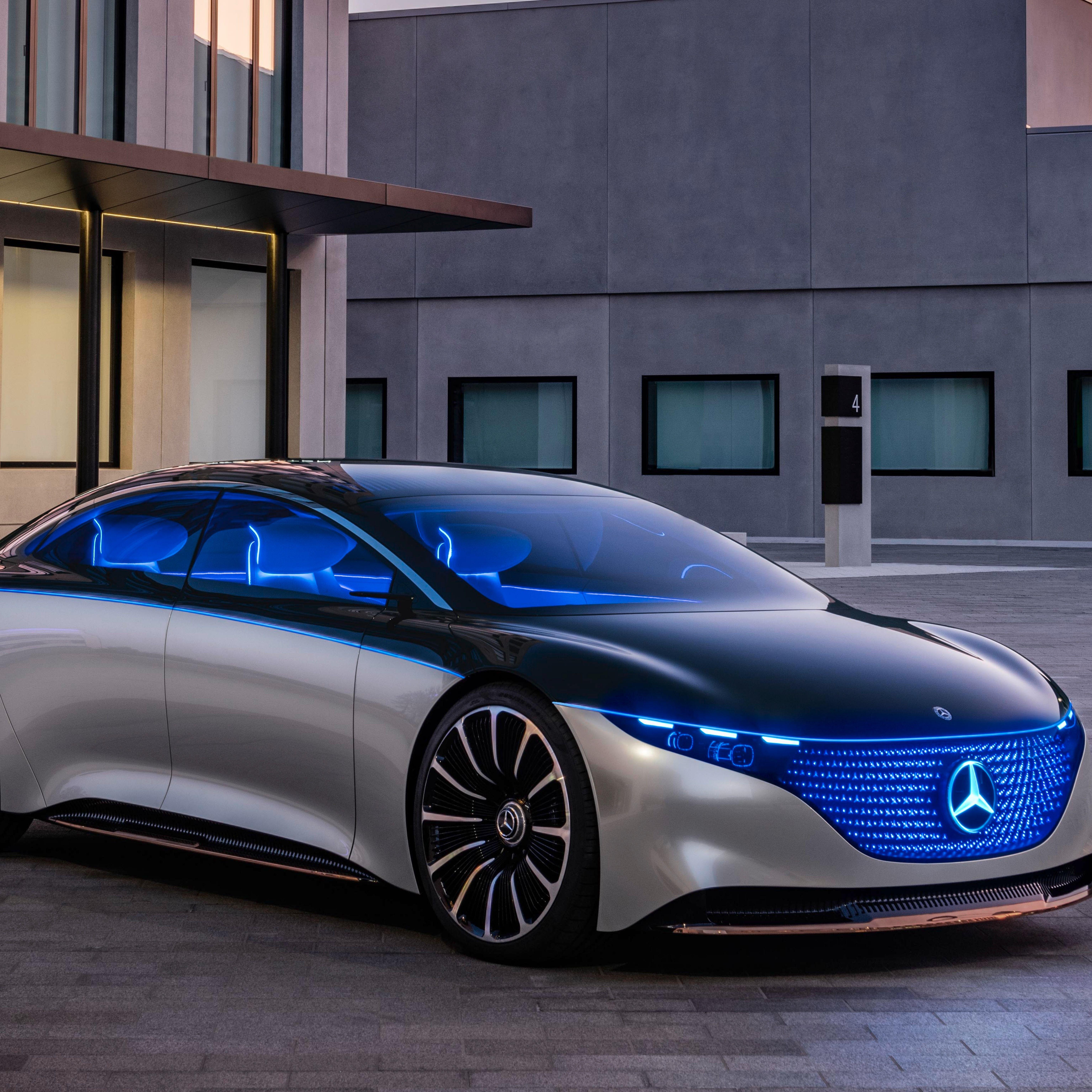 Mercedes-Benz Vision EQS Concept Previews Future Electric