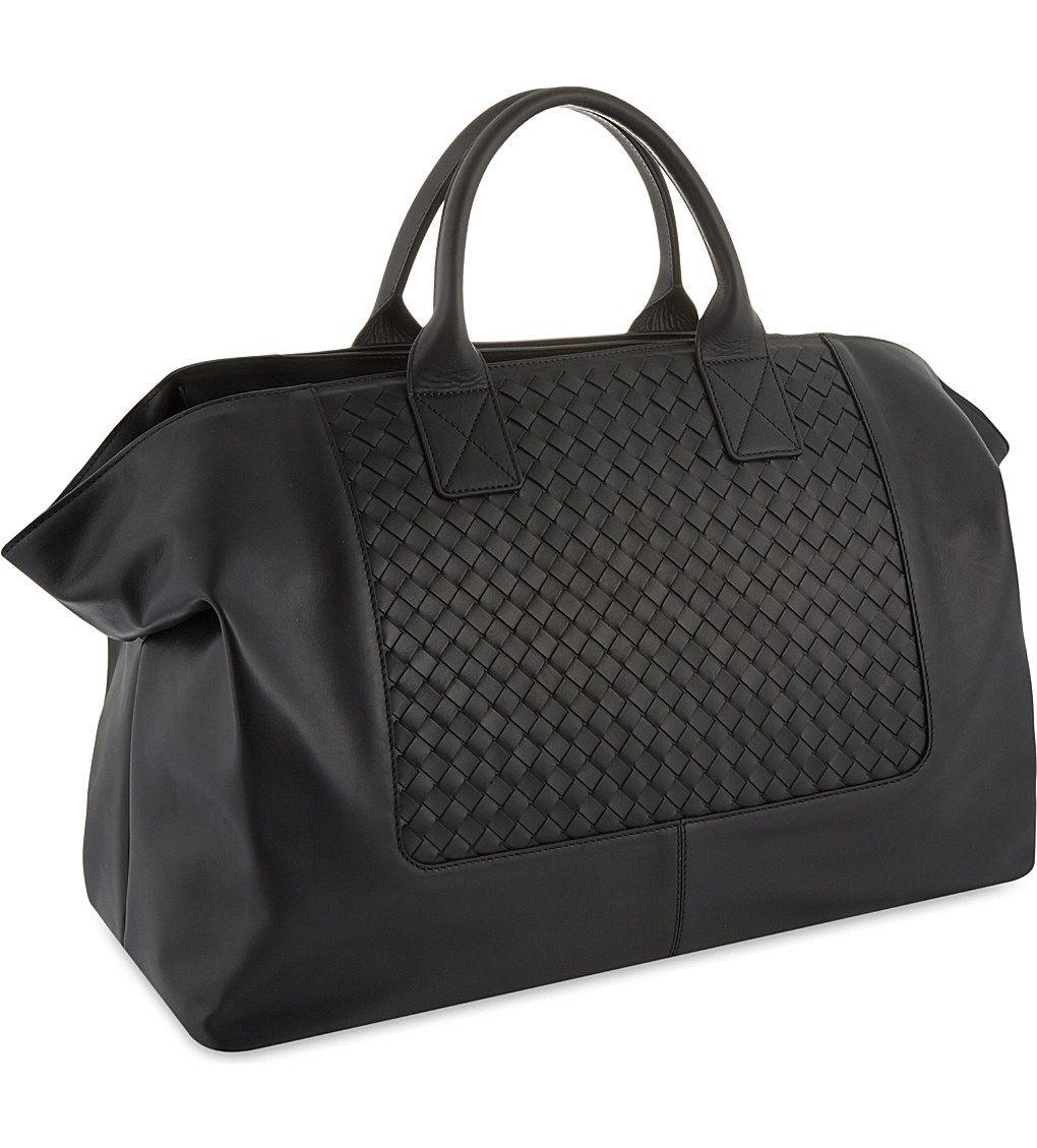 BOTTEGA VENETA - Intrecciato calf leather holdall  b879368e2050d