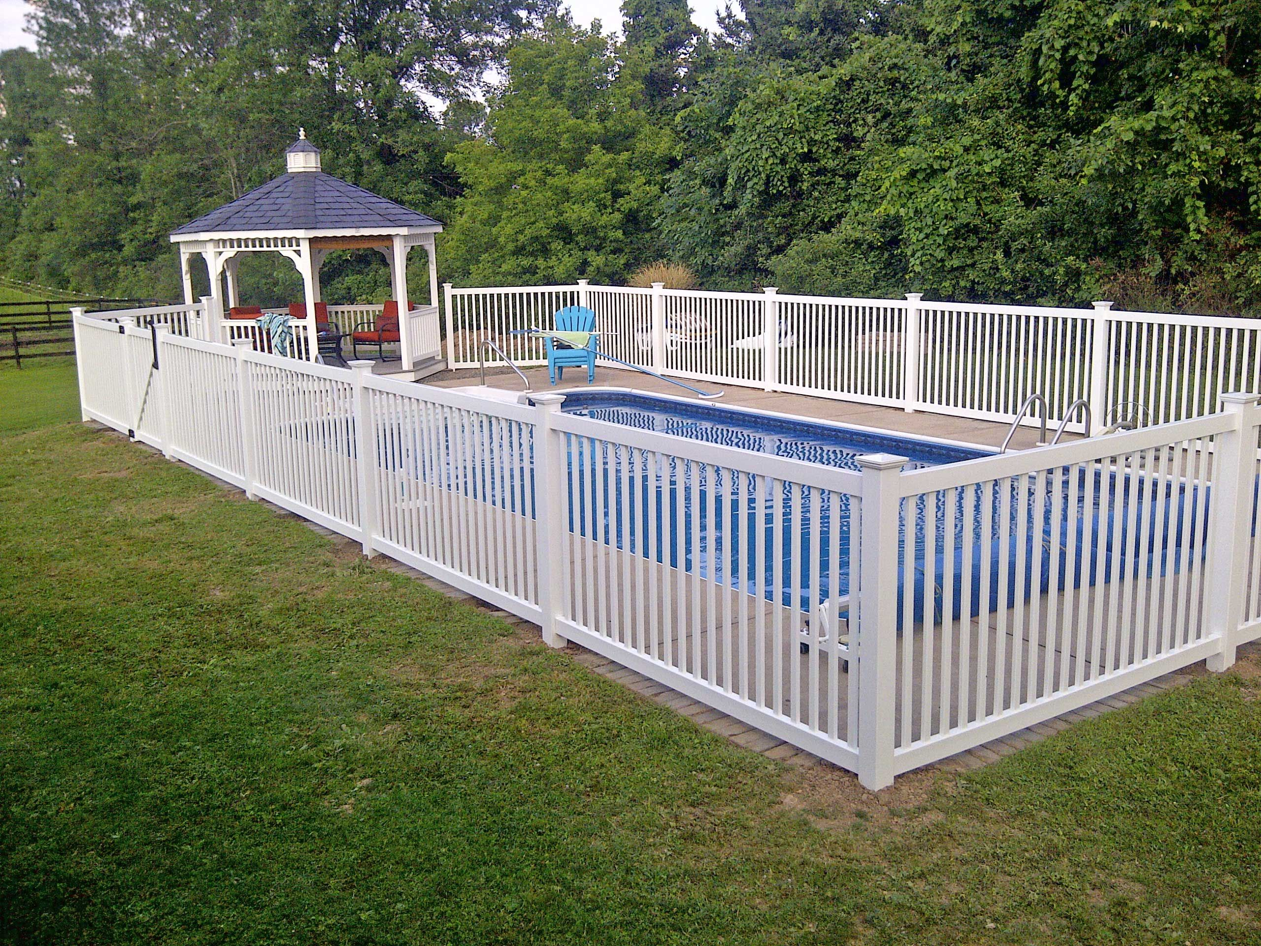 Pool fence ideas phillip ave pinterest fences for In ground pool fence ideas