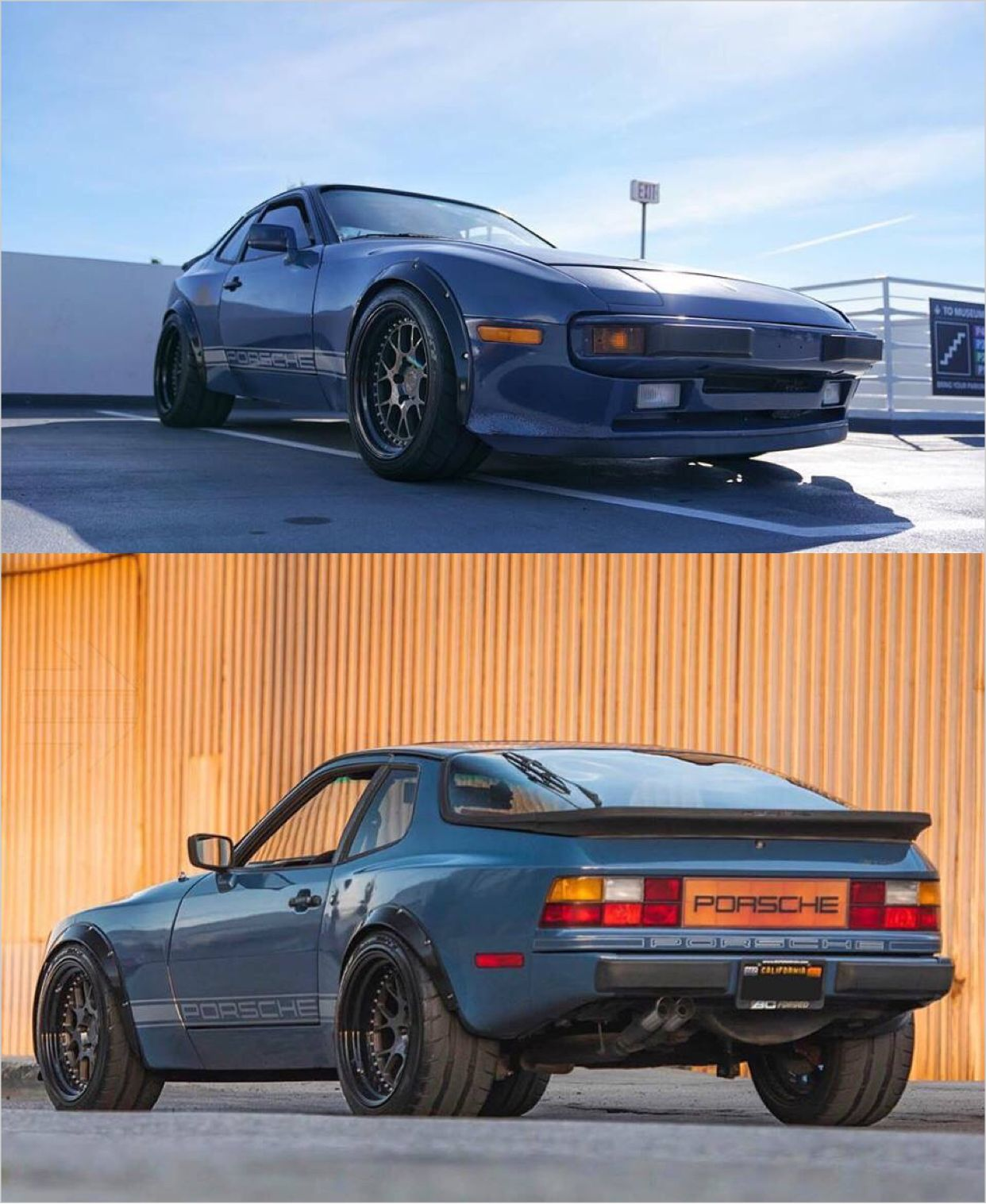 Porsche 944 unique wide,body flares and splitter by