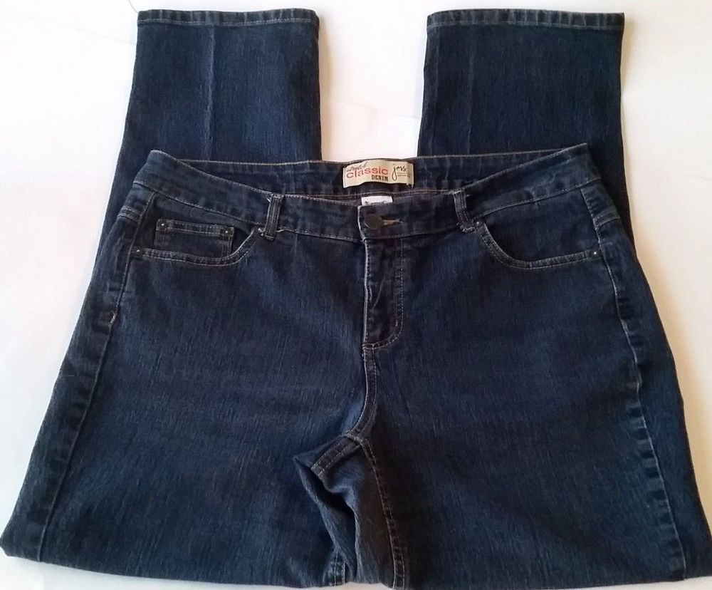 9f0a3354dc201 JMS Just My Size Women s Jeans Straight Tapered Leg Dark Wash Size 18W Med