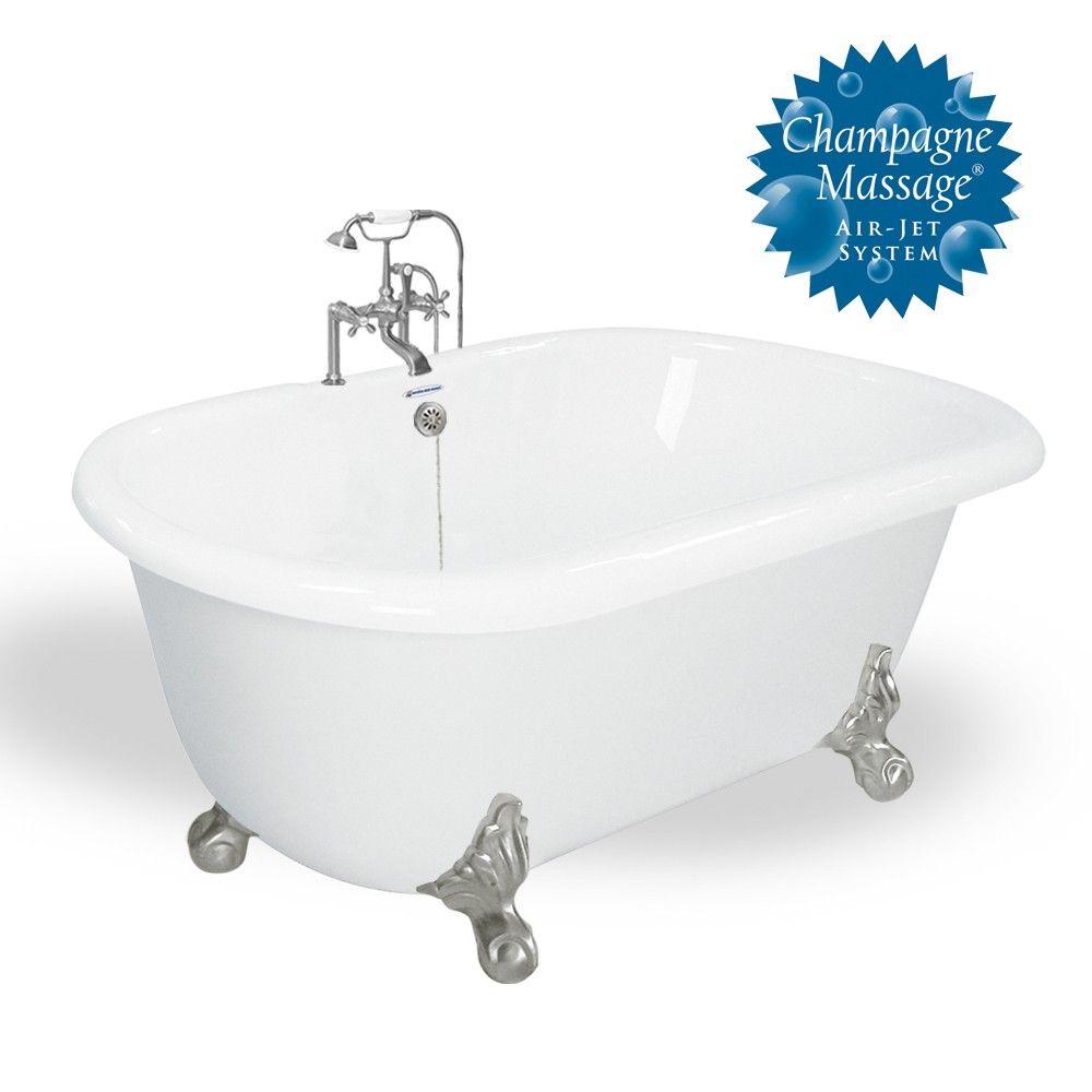 American Bath Factory Melinda 60 White Acrastone Package