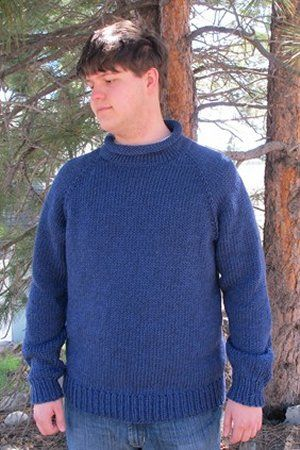 Knitting Pure And Simple Mens Sweater Patterns 1110 Bulky Neck