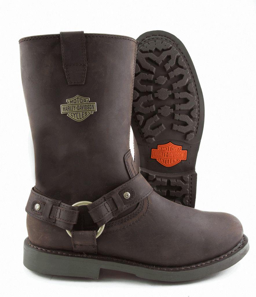 Harley Davidson ® Biker Boots Josh Brown Leather Mens Bike  Boot