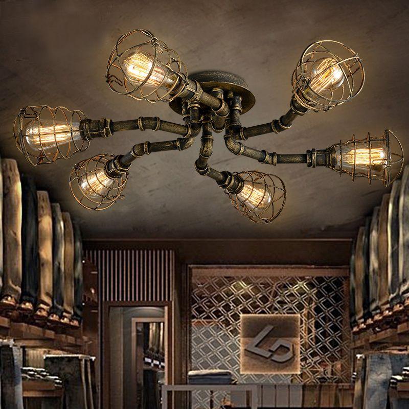 Goedkope Amerikaanse retro stijl industriële loft plafondlamp ...