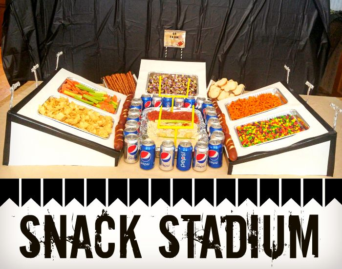 Are you ready for th Big Game I have the perfect Snack Stadium for