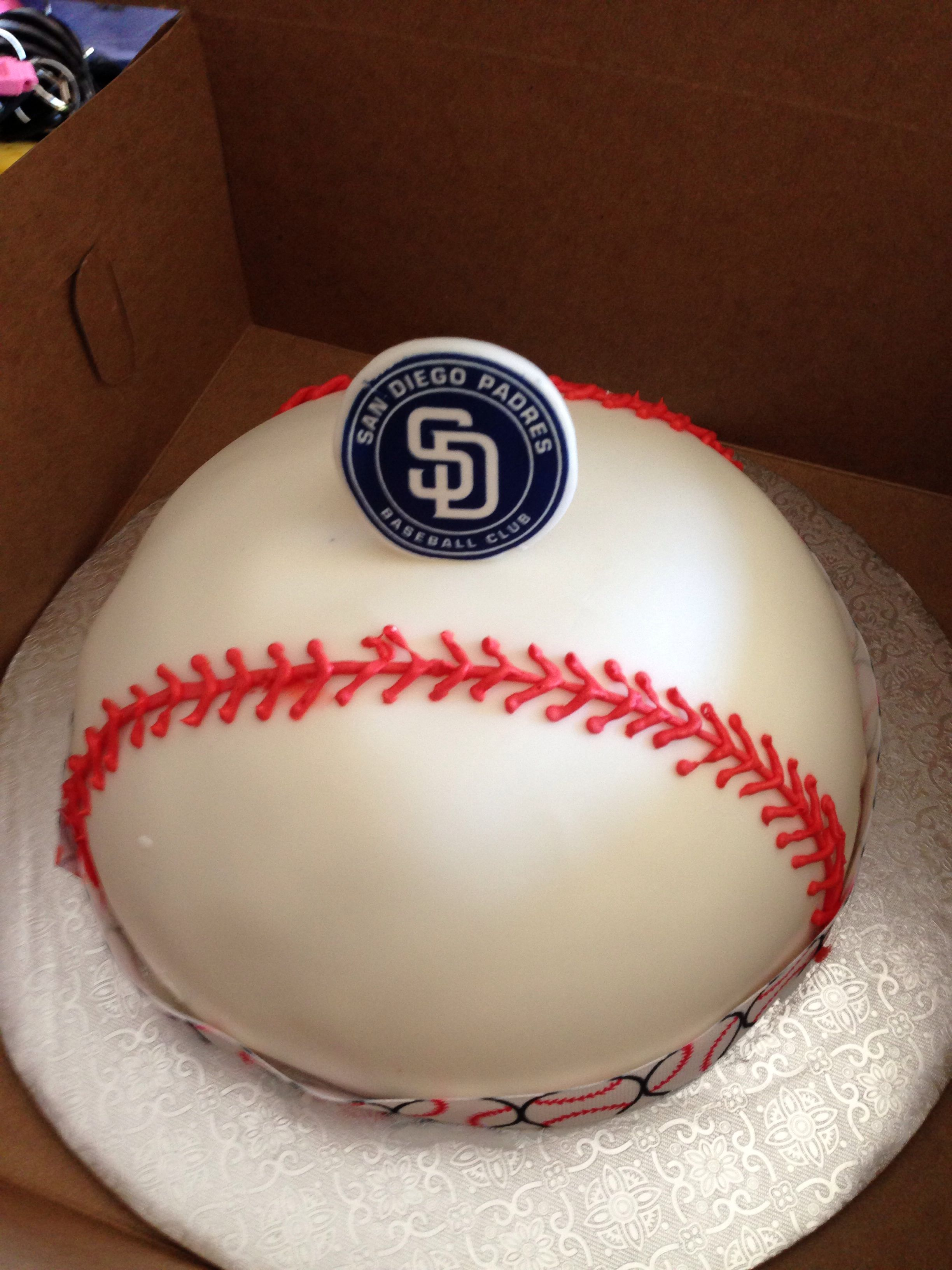 Enjoyable San Diego Padres Team Cake Cake Pop Decorating Cake San Diego Personalised Birthday Cards Veneteletsinfo