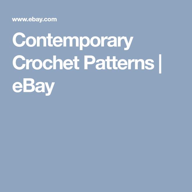 Contemporary Crochet Patterns Ebay Crochet Misc Pinterest