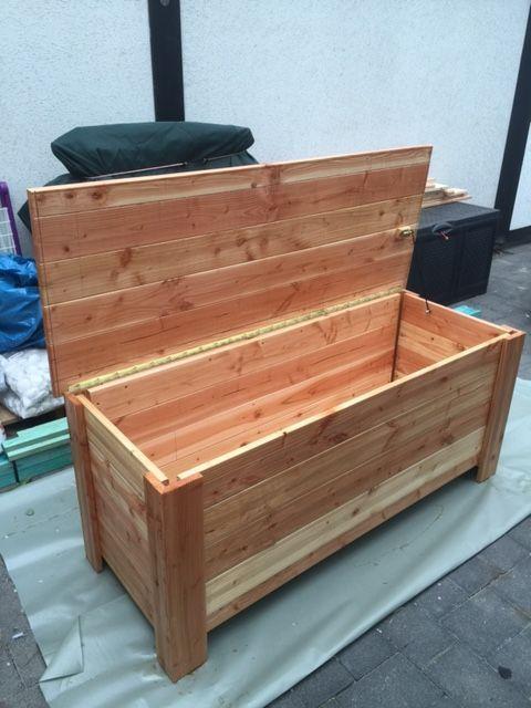 Userprojekt Garten Balkon Selbst De Aufbewahrungsbox Holz Auflagenbox Palettenholz