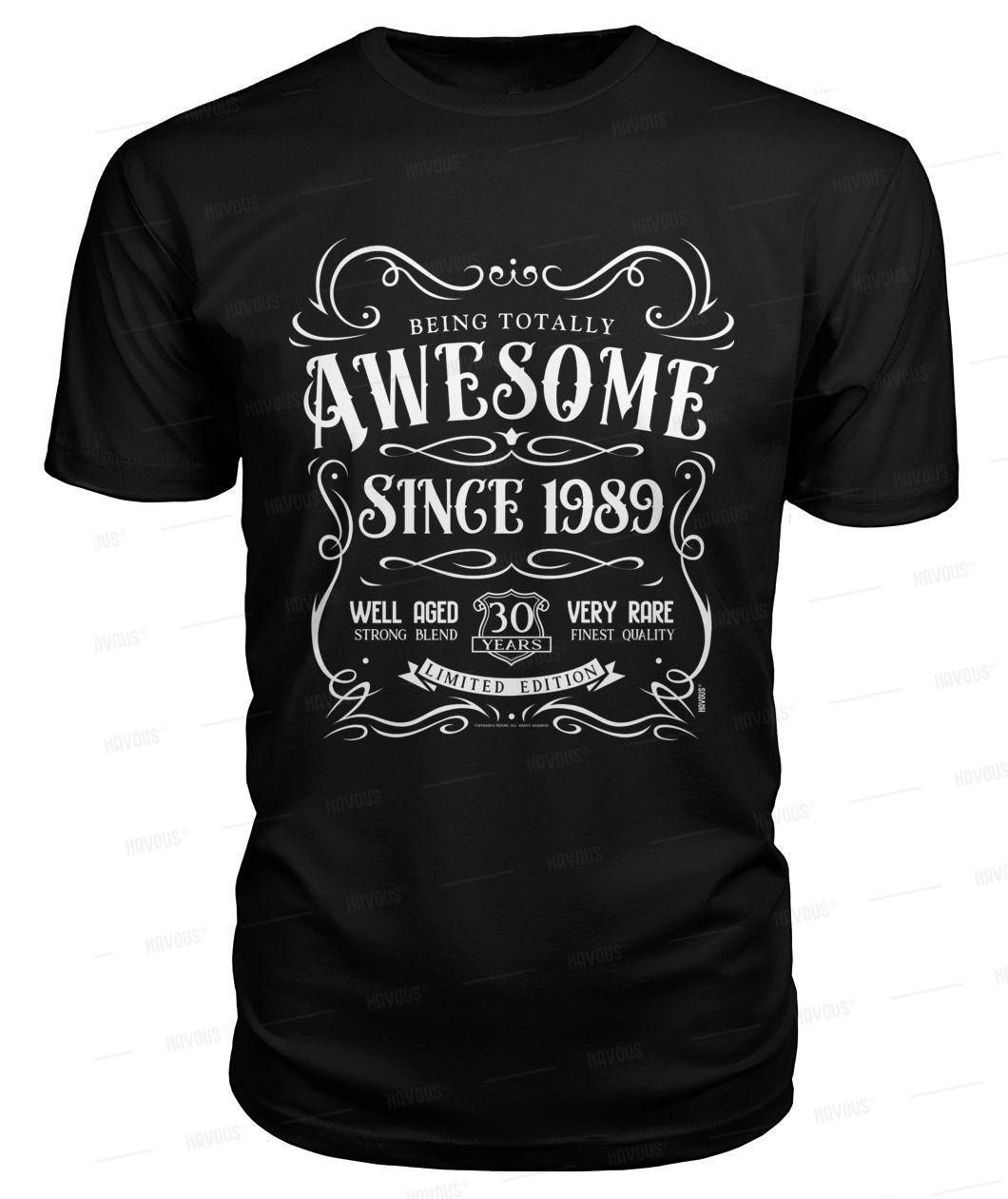 30th birthday gift tshirt awesome since 1989 30th