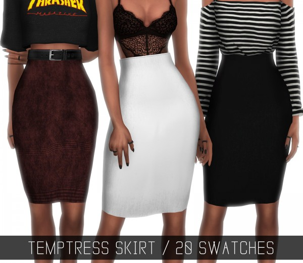 Photo of Clothing: Temptress skirt from Simpliciaty • Sims 4 Downloads