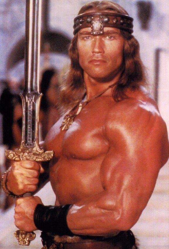 Arnold Schwarzenegger Mr Bean Funny Conan The Barbarian Arnold Schwarzenegger