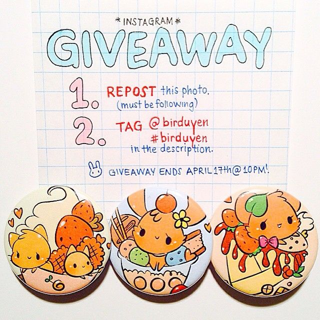 THANK YOU FOR 5K!!!! i'm giving away my ONLY set of dessert buttons to celebrate :) TO ENTER...  repost once  tag #birduyen (remember to be off private!)