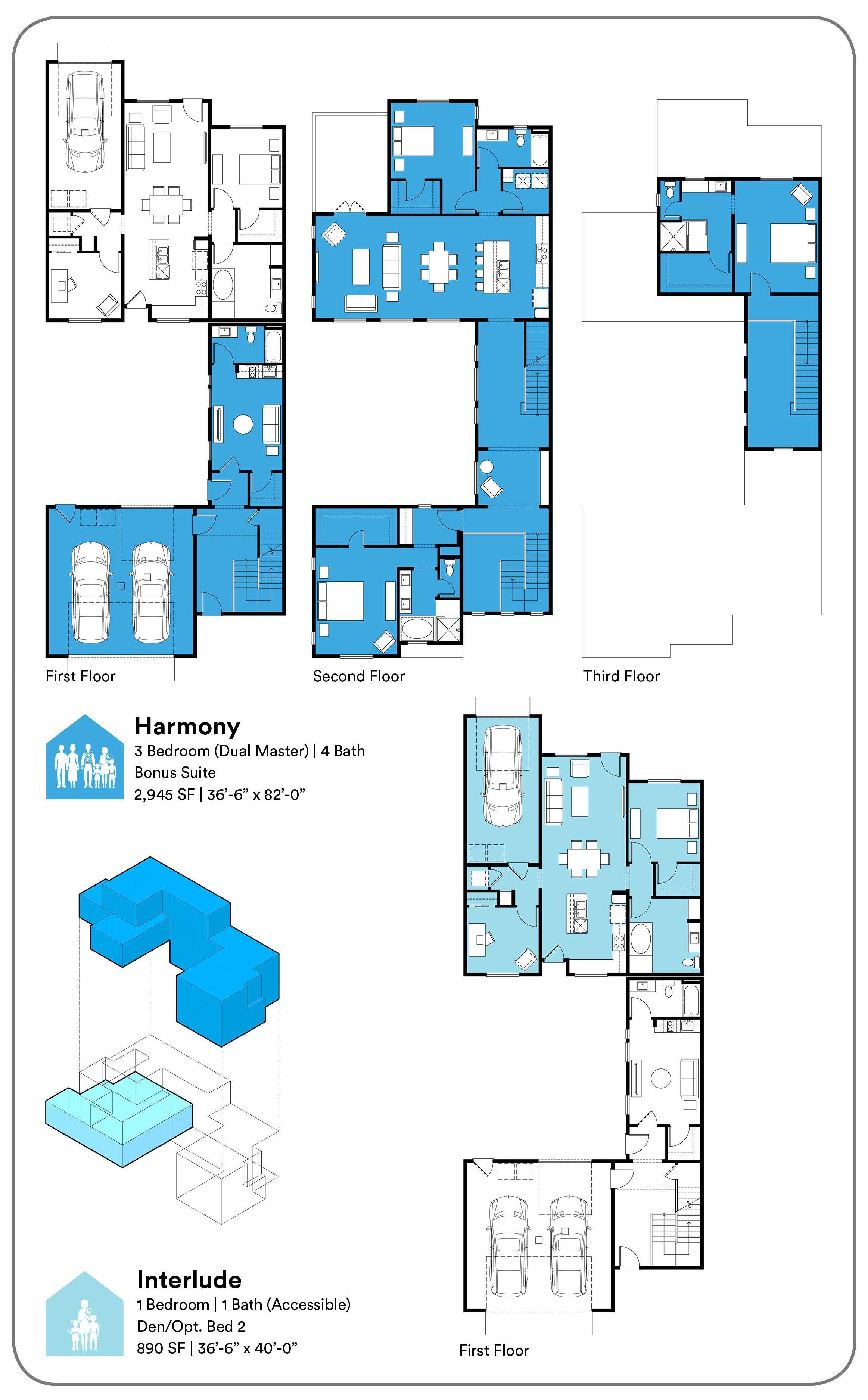 Ensemble Multi Generational Architecture Plan Architecture