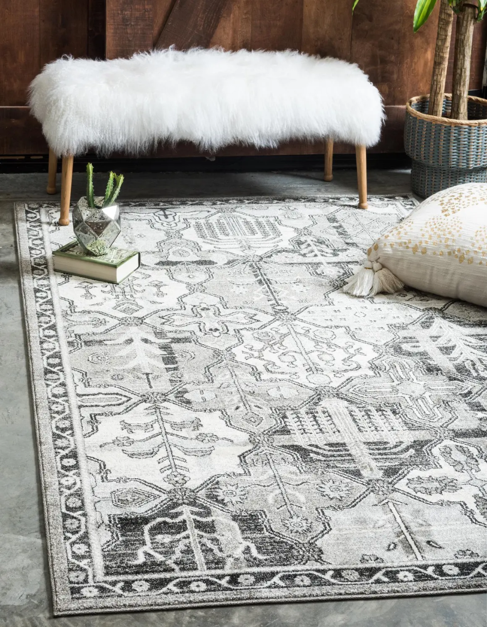 Gray 6 X 9 Vista Rug Esalerugs In 2020 Area Rugs Clearance Rugs Geometric Area Rug