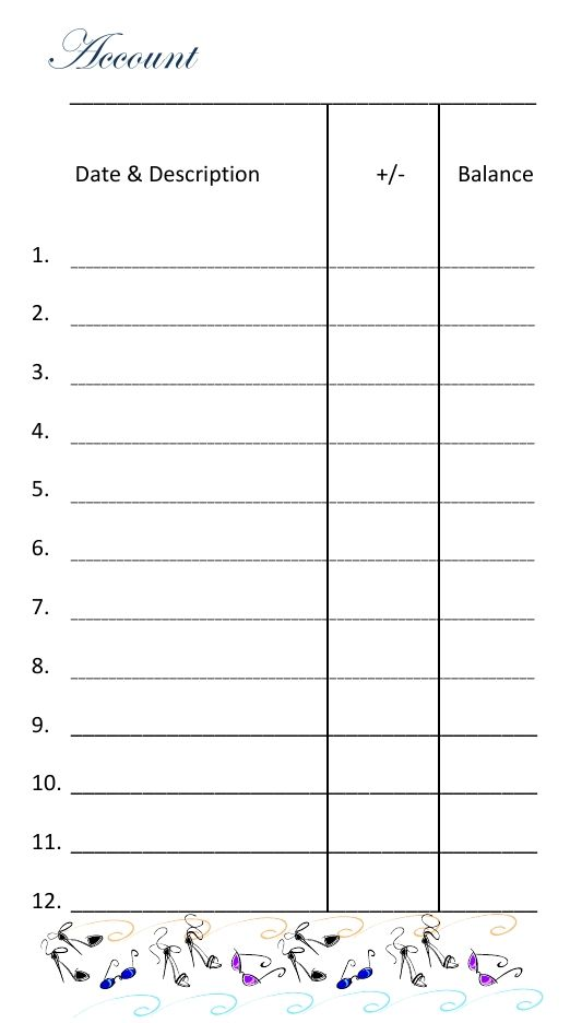 The Cash Envelope System u2013 Free Printable Cash Envelope - account ledger template