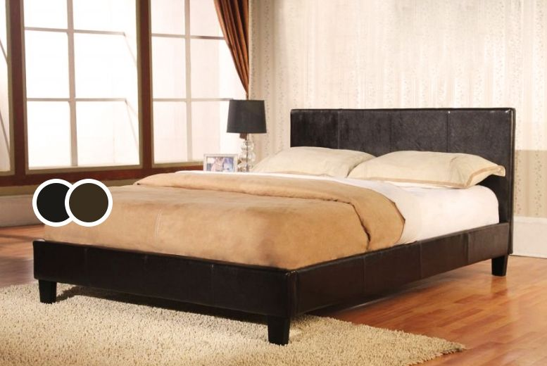Haven Faux Leather Bed - 2 Colours!