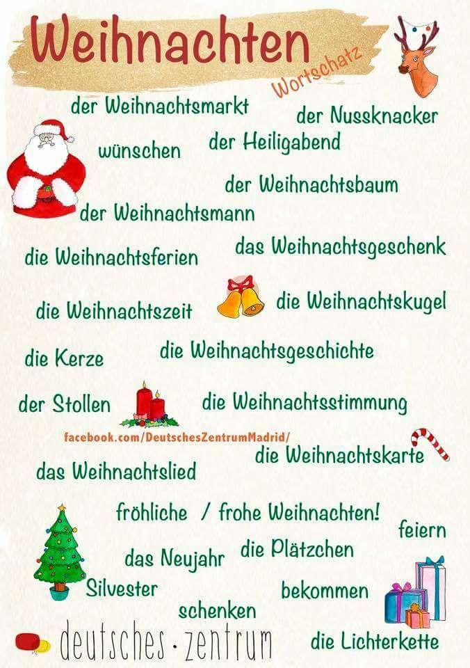 weihnachten german learning deutsch lernen deutsch. Black Bedroom Furniture Sets. Home Design Ideas