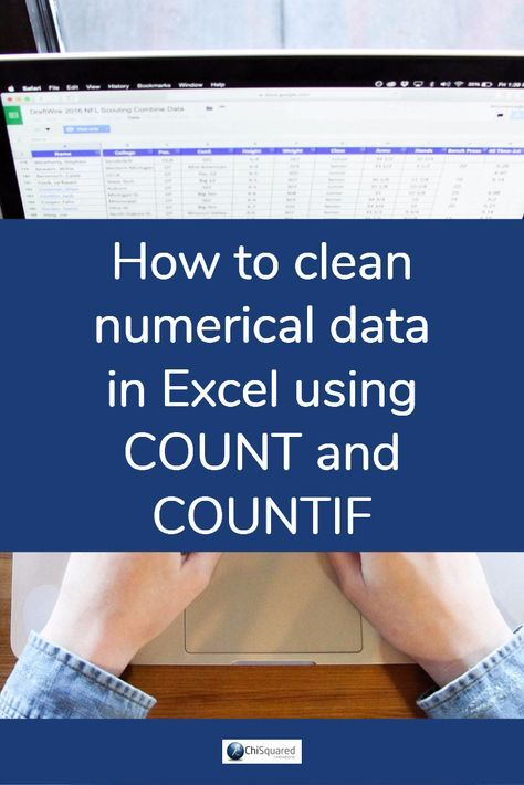How to clean numerical data in Excel using Count and Countif - business modelling using spreadsheets