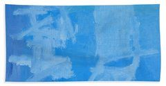 Abstract Beach Towel featuring the painting Chinese Style by Noa Yerushalmi