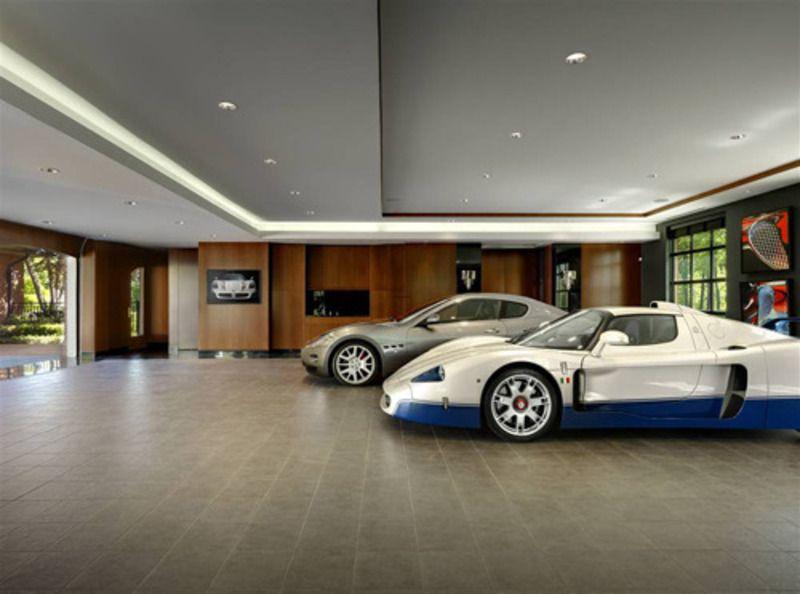luxury garage interiors | Interior Garage Designs, interior garage ...