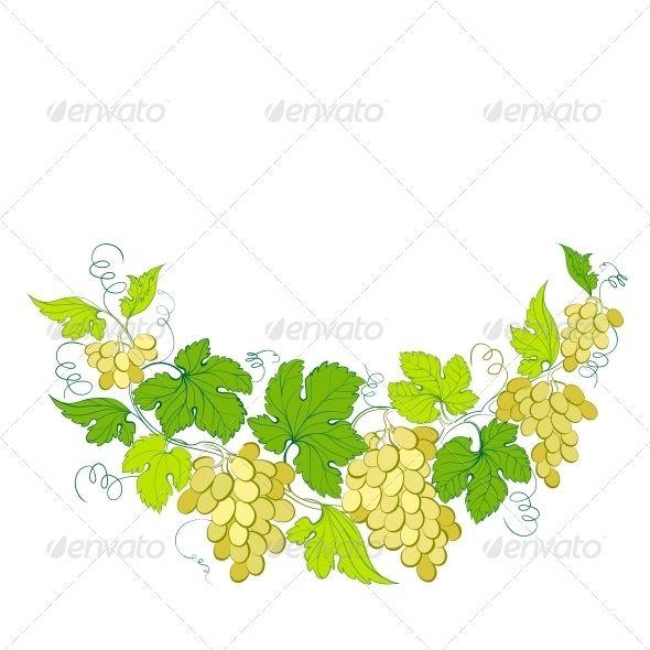 Wine List Design with Grapes Decoration. - Flowers & Plants Nature ...