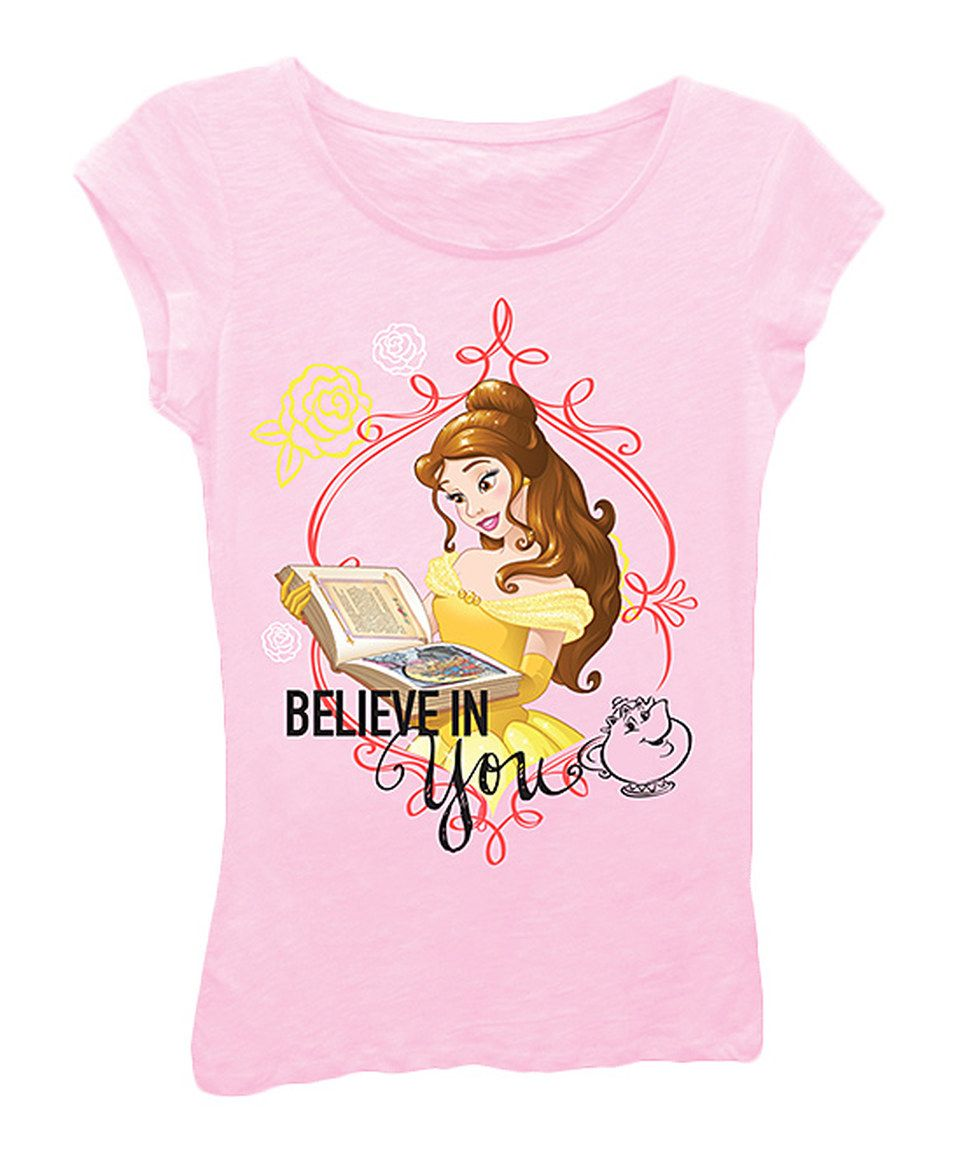 This Light Pink Disney Princess 'Believe in You' Tee - Toddler & Girls by Disney Princess is perfect! #zulilyfinds
