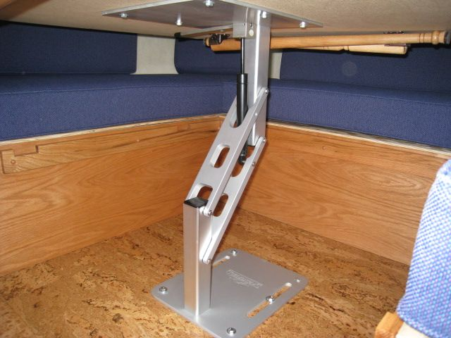 Hydraulic Table For The Dinette Hmmm Camping Table Camper