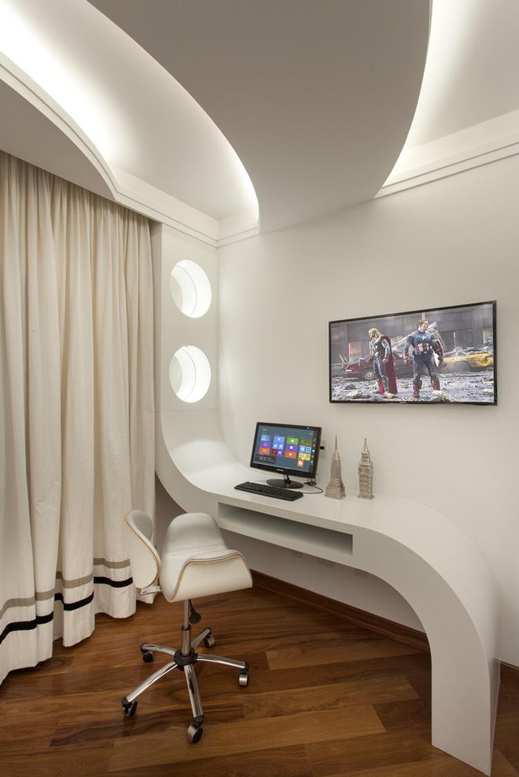 Casa Contempor Nea Com Linhas Curvas Veja Detalhes Da Fachada E  # Meuble Tv Casa