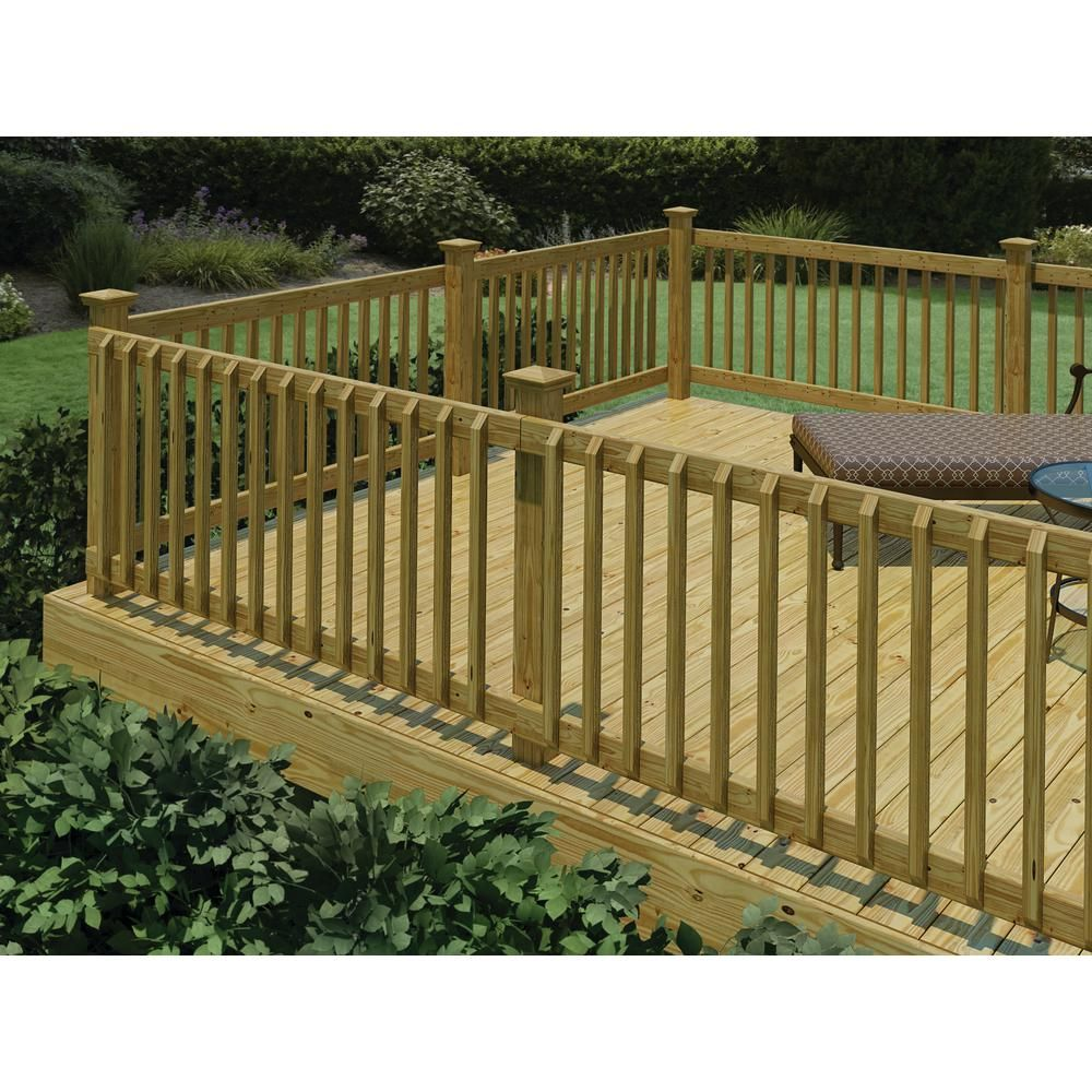 Pressure Treated 6 Ft Handrail 132380 The Home Depot Deck | Pressure Treated Round Handrail | Menards | Aluminum Balusters | Baluster | Cedar | Porch