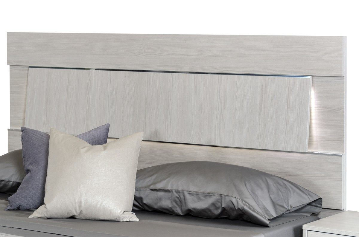 Modrest ethan italian modern grey bed bedroom set pinterest