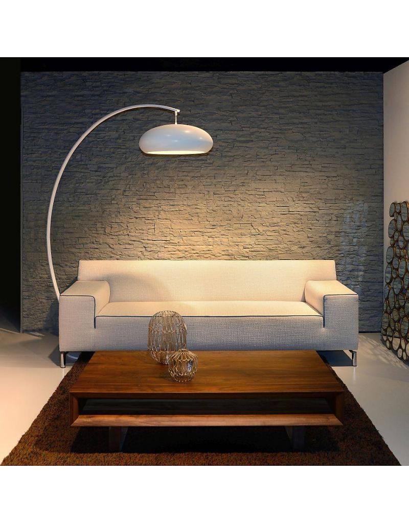 Uitgelezene Staande lamp met boog wit 1800-2080mm hoog (met afbeeldingen FX-55