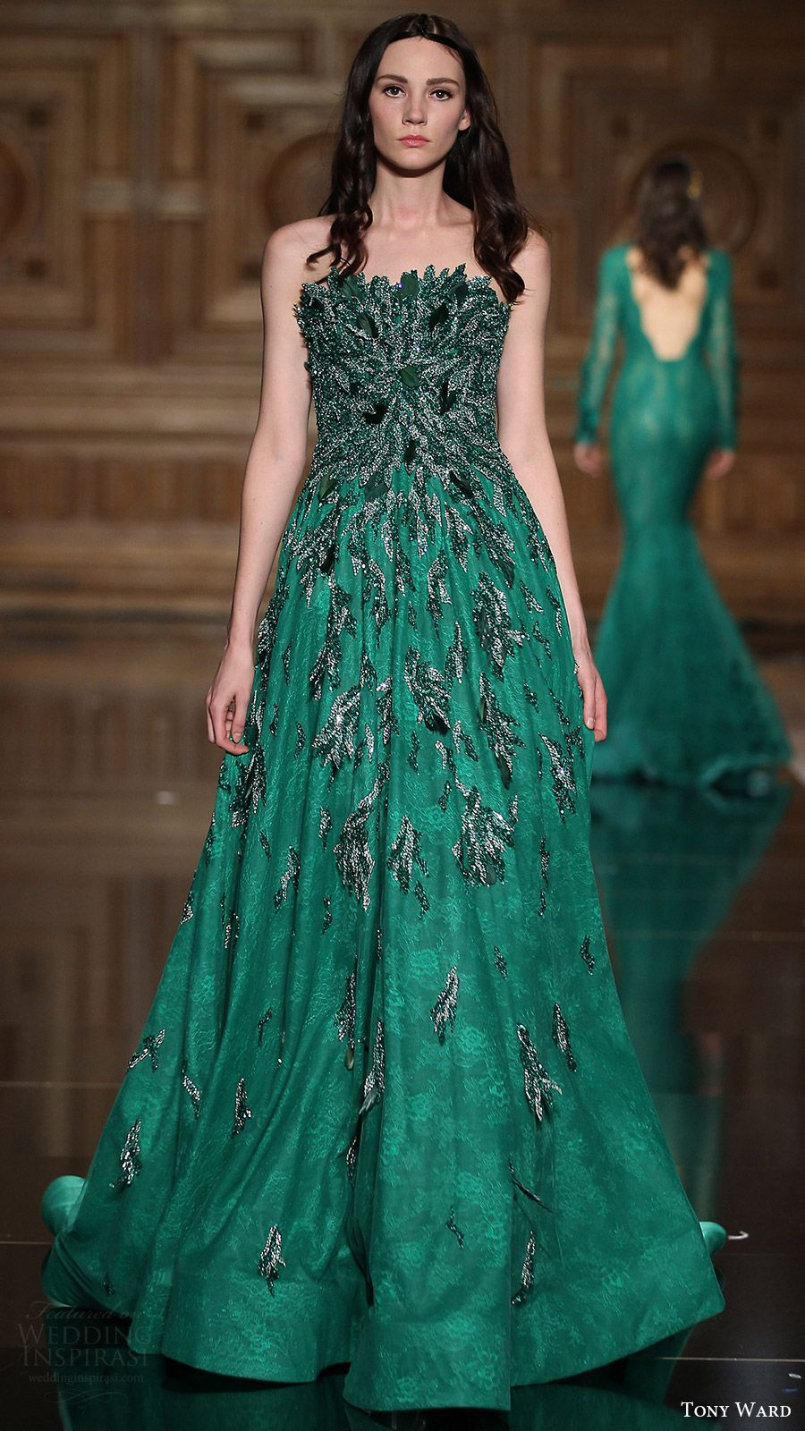 Tony Ward Fall/Winter 2016-2017 Couture Collection | Green colors ...