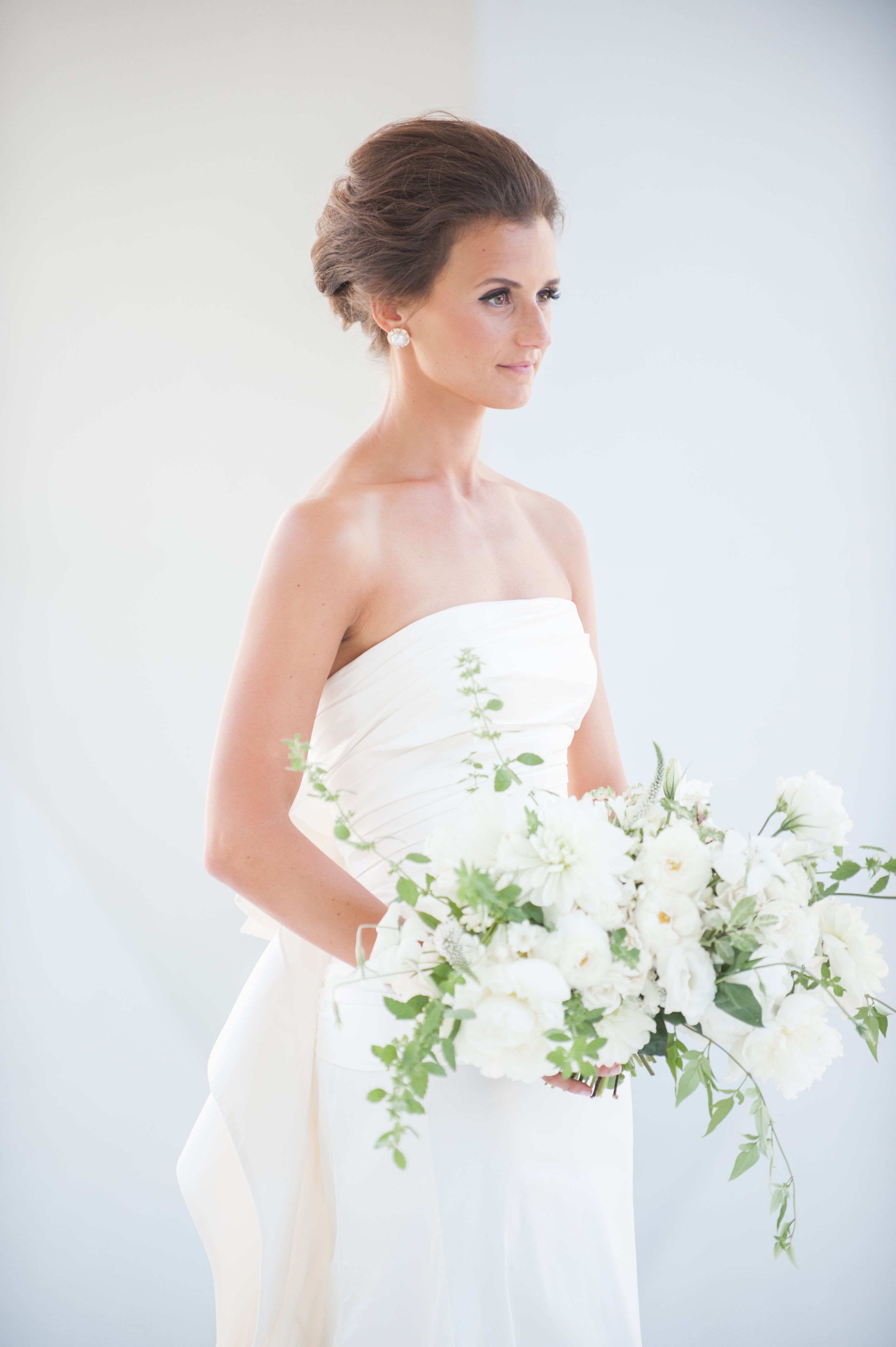 Andrea on her wedding day.  Florals by Celsia Floral  Event Design: Spread Love Events  Melissa Gidney Photography