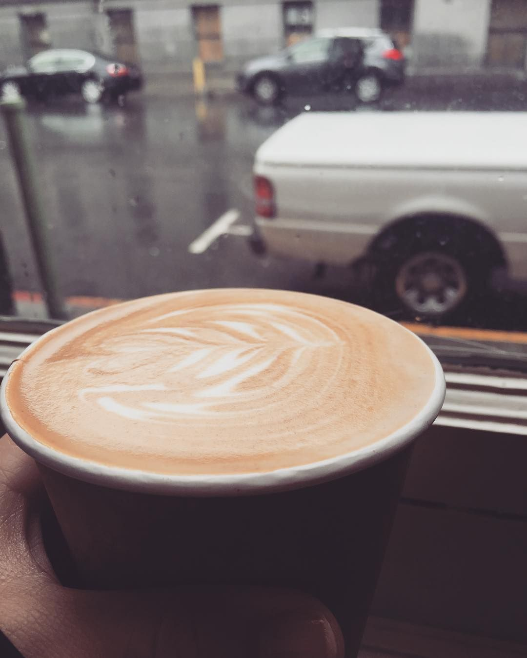 \\ It's Raining A Latte #sanfrancisco #rain #blustery #day