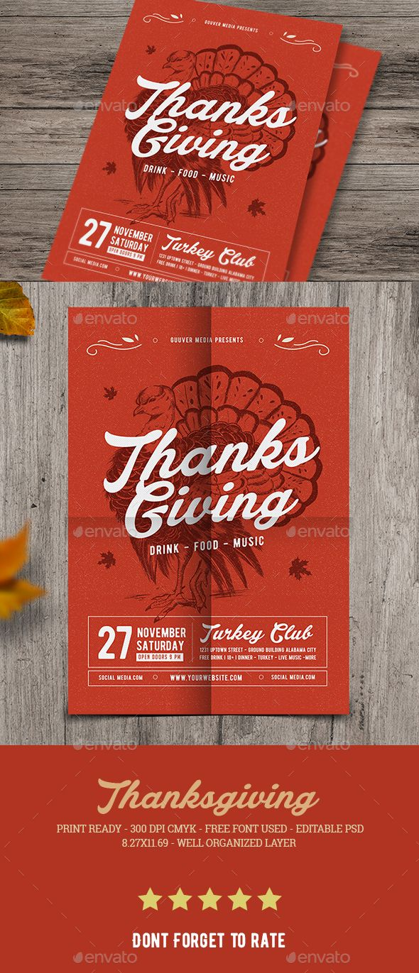 Thanksgiving Flyer Psd Templates Thanksgiving And Template