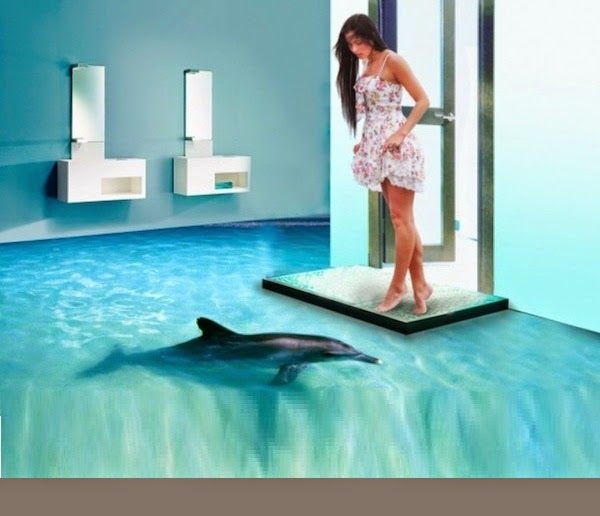 How to install 3D bathroom floor murals 3D flooring prices our