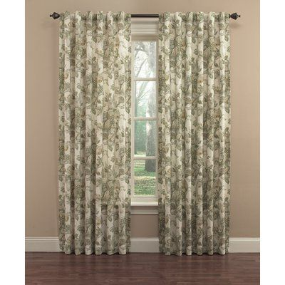Waverly Spring Bling Floral Flower Room Darkening Thermal Rod Pocket Single Curtain Panel Panel Curtains Curtains Window Curtains