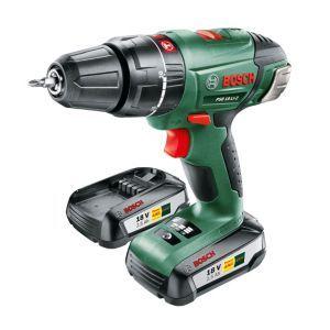 Bosch Cordless 18v 2 5ah Hammer Drill 2 Bosch Cordless 18v 2 5ah Hammer Drill 2 Batteries Psb18li 2 Barcode Ean 31 Cordless Hammer Drill Hammer Drill Drill