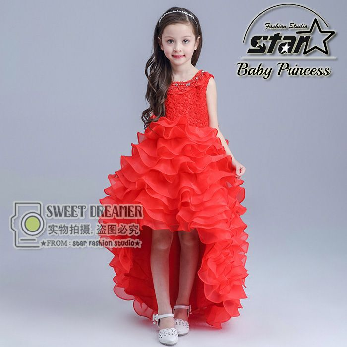 Click to Buy    2016 New Summer Baby Girls Party Dress Evening Wear ... acffe28e8818