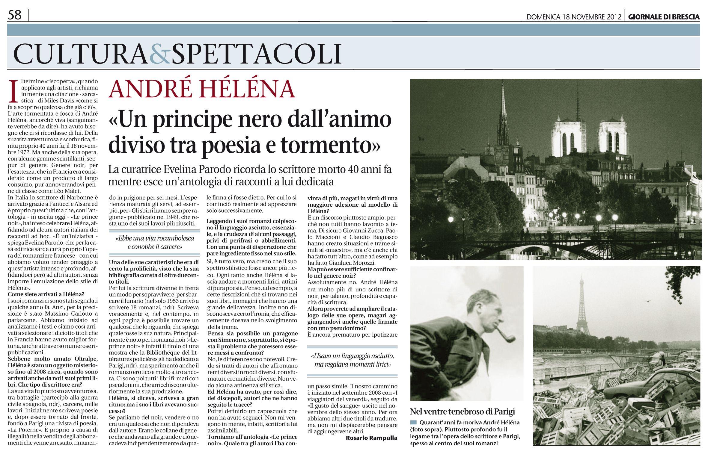 Il Giornale di #Brescia su #princenoir @AleGreco74 @Sacha Naspini
