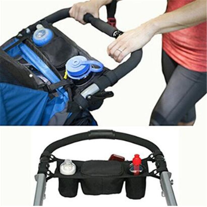 Pram Pushchair Stroller Buggy Cup Bottle Drink Food Holder Storage Bag Organiser