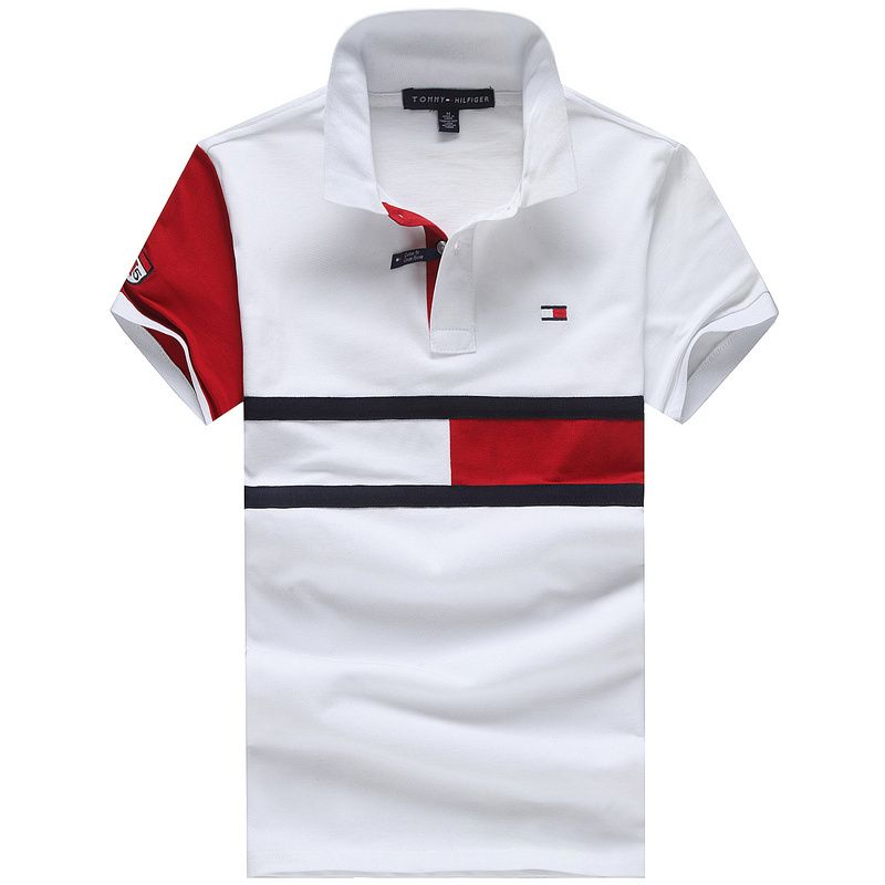 3738e984e5dd77 Tommy Hilfiger Polo Shirts Men Short