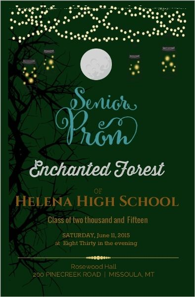 d22f464332e Enchanted Forest Prom Invitation More
