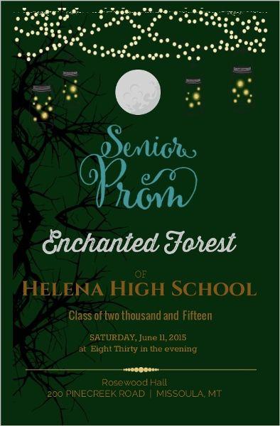 enchanted forest prom invitation  u2026