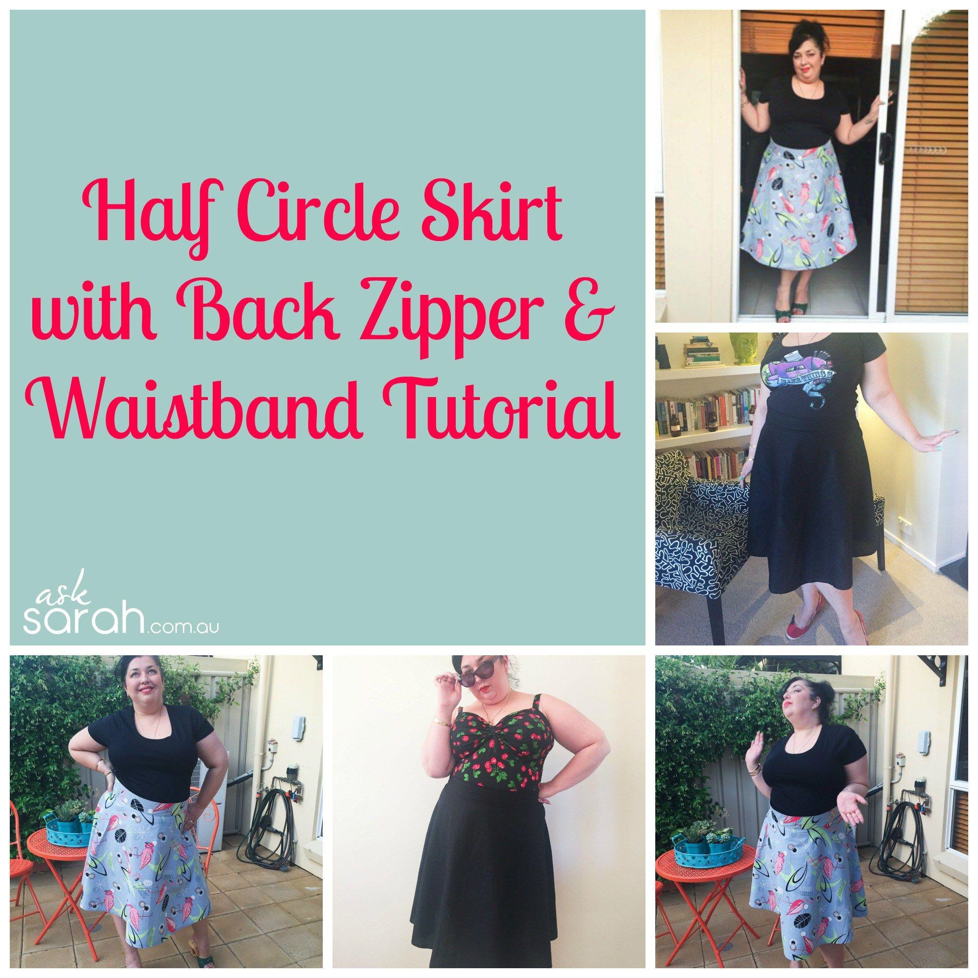 Sew half circle skirt with back zipper waistband tutorial sew sew inside out round round skirt tutorial no hem reversible wrap circle skirt jeuxipadfo Gallery