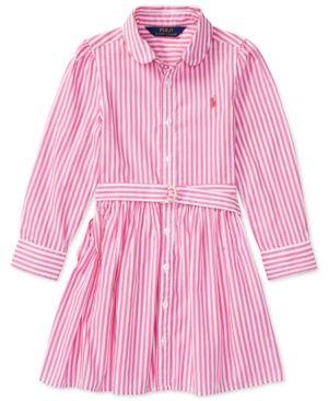 3c3e3a5a9 Ralph Lauren Bengal-Striped Cotton Shirtdress