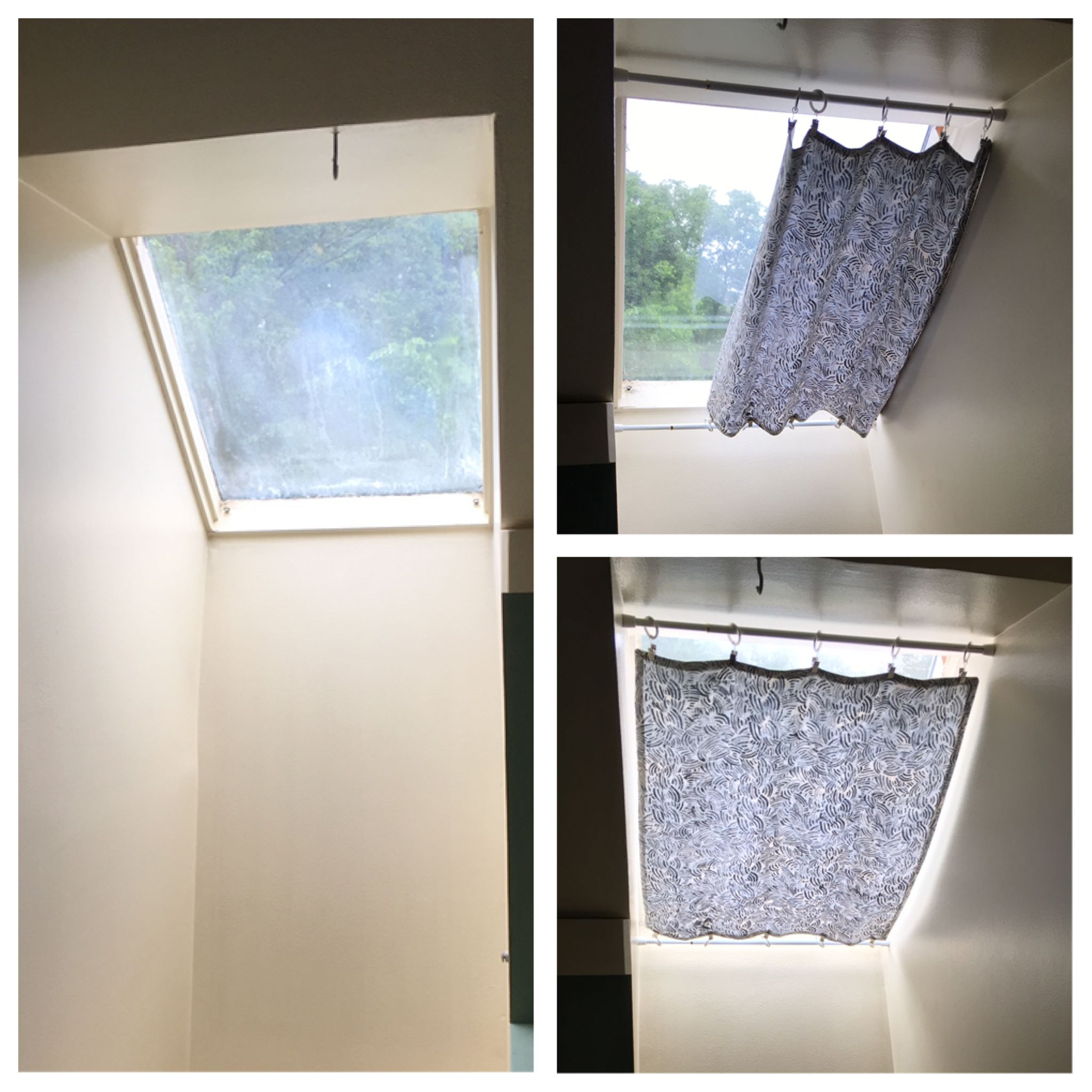 Shade solution for our hard-to-reach skylights. | Skylight curtain ...