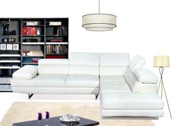 Arezzo arezzo White modern sectional sofa : J&M ...